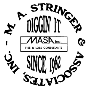 M.A. Stringer and Associates Fire and Loss Consultants Diggin It Logo
